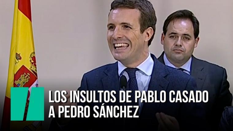 37 insultos de Pablo Casado a Pedro Sánchez en la prórroga del estado de alarma por coronavirus en apenas 15 minutos.