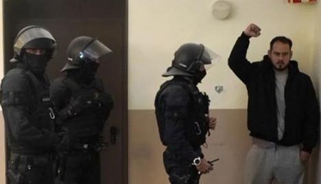Pablo Hasél detenido en el rectorado de la Universidad de Lleida