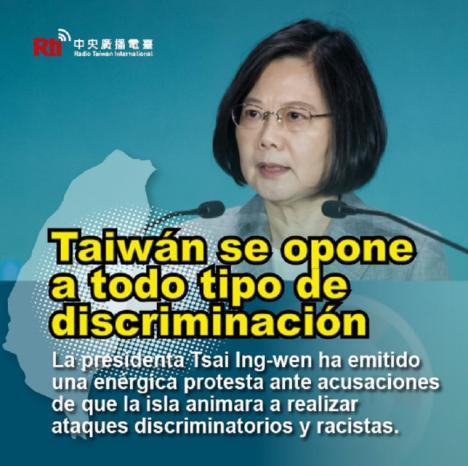 La Presidenta de Taiwán, Tsai Ing-wen emite una protesta contra acusaciones del director de la OMS