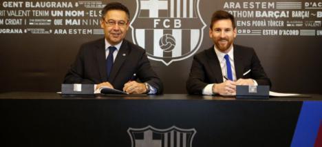 Messi renueva con el FC Barcelona