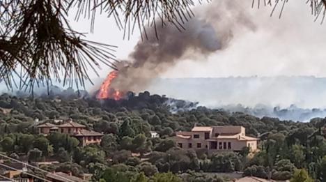 Un incendio forestal en Toledo obliga a desalojar a vecinos del barrio de Montesión y la Bastida