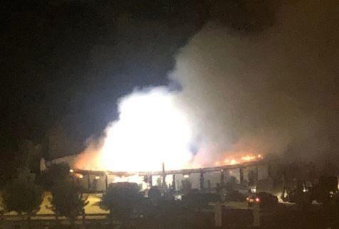 Un incendio destroza una caballeriza en la finca de Morante de la Puebla