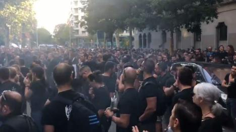 los Mossos d'Esquadra protestan por las condiciones laborales