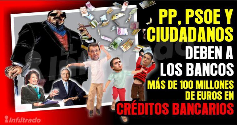 Los bancos no se fían y por vez primera se niegan a adelantar dinero a PSOE y PP