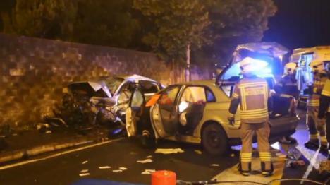 Muere un ertzaina tras ser embestido su coche por otro vehículo