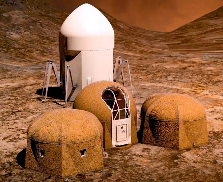 La NASA presenta los tres primeros diseños de vivienda marciana
