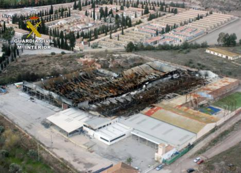 Detienen a un ciudadano chino acusado de incendiar intencionadamente una nave industrial en Lorca