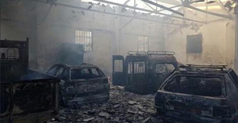Arde una nave del Ayuntamiento de Jaén