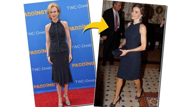 La reina Leticia plagia la manera de vestir de Nicole Kidman