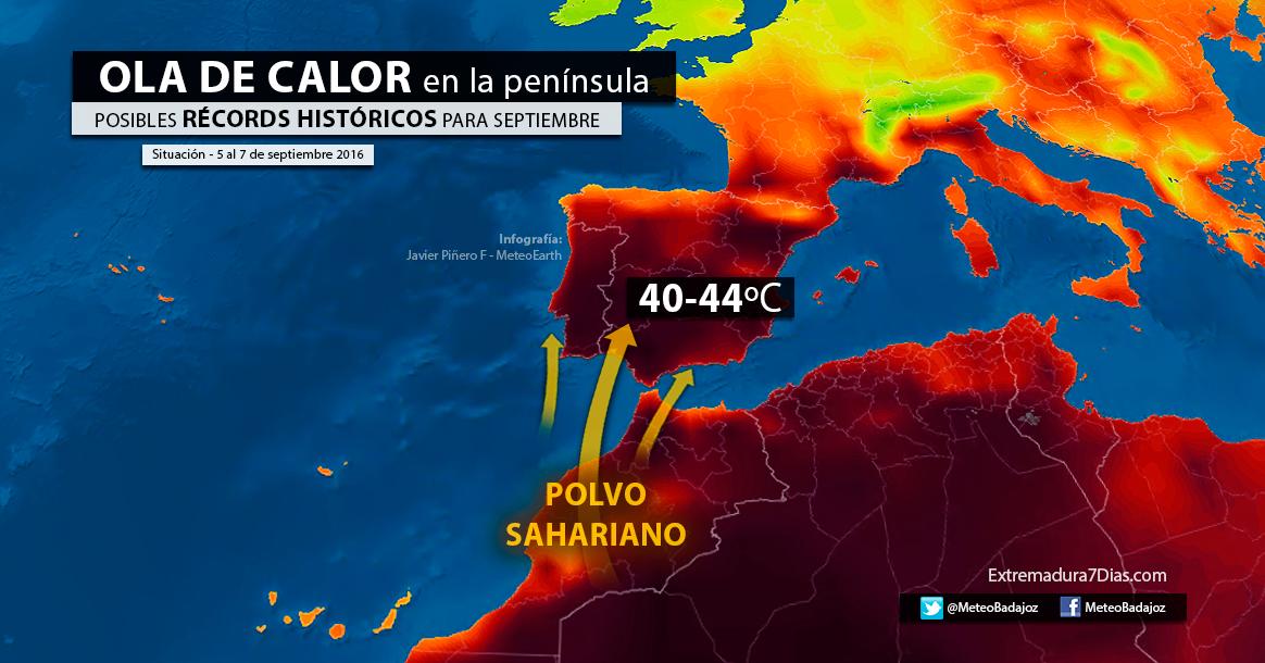 Temperaturas extremas por la ola de calor en España