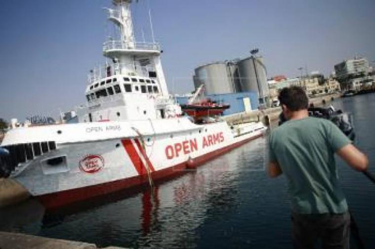 El Open Arms llega al puerto de Algeciras