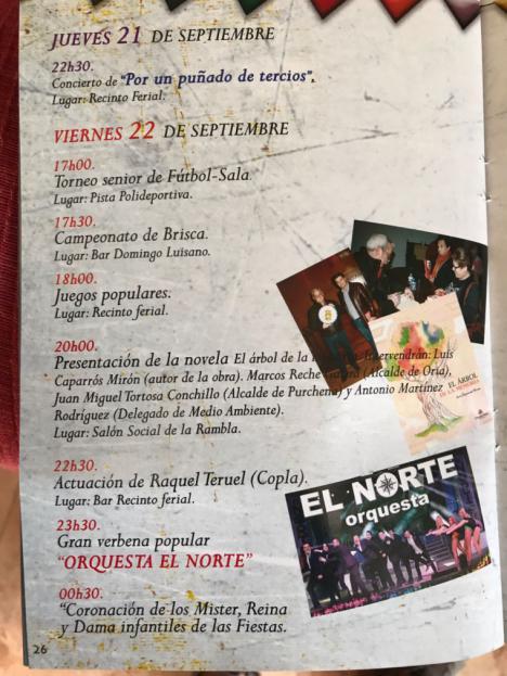 Este viernes comienzan las fiestas en la Rambla de Oria (Almería)