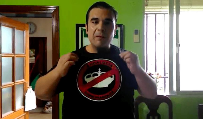 El sindicalista del SAT Óscar Reina es detenido por ofender a la Corona y puesto en libertad poco después.