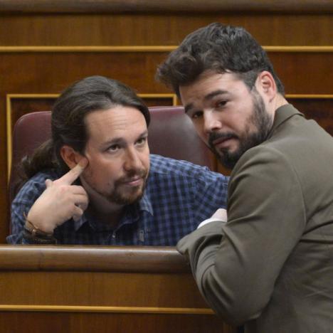 Rufián se reunirá con Calvo e Iglesias para negociar los Presupuestos Generales del Estado