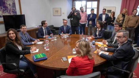 Ciudadanos pacta con PP los acuerdos de gobierno, pero aparta a Abascal que carga contra Marín por reunirse con Adelante Andalucía.
