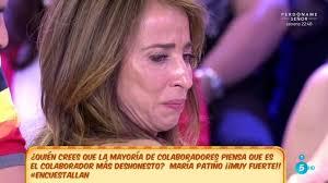 Patinazo de Maria Patiño en el programa