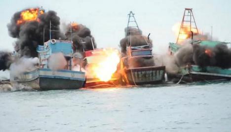 Indonesia hunde 51 barcos extranjeros por practicar pesca ilegal en sus aguas