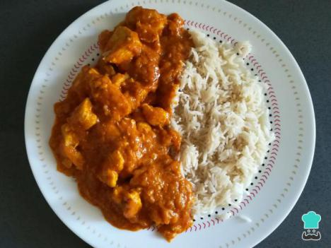 Receta de Pollo al curry