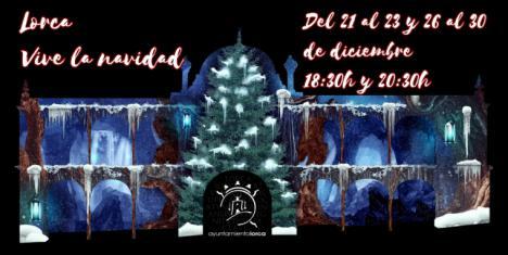 La fachada del Ayuntamiento de Lorca se convertirá en escenario del Vídeo Mapping 'Lorca vive la Navidad' del 21 al 23 y del 26 al 30 de Diciembre