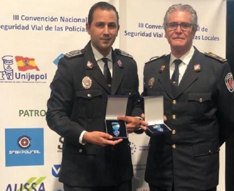 El Comisario jefe de la Policía Local, José Antonio Sansegundo y del Subinspector Bienvenido Romero, premiados por su trayectoria profesional en Seguridad y Educación Vial