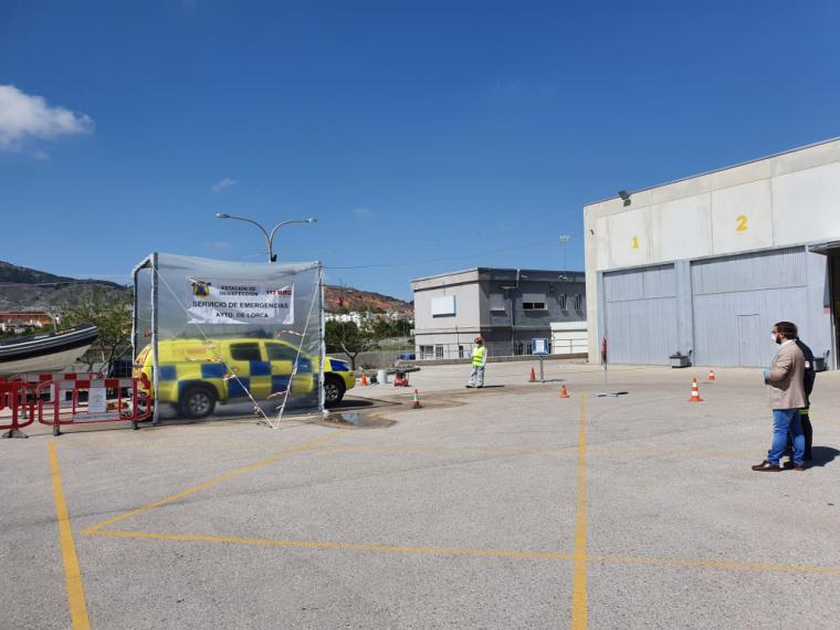 El Ayuntamiento de Lorca pone en marcha una Estación de Desinfección de Vehículos para los servicios de emergencias, seguridad y sanidad