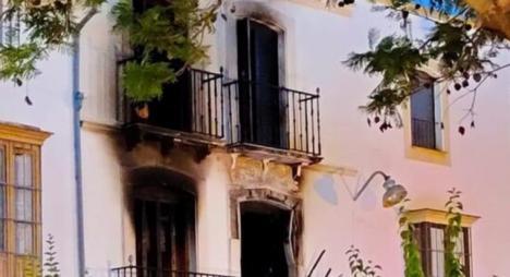 Detenida una mujer por el incendio de una vivienda en Aguilar, en el que murió una persona