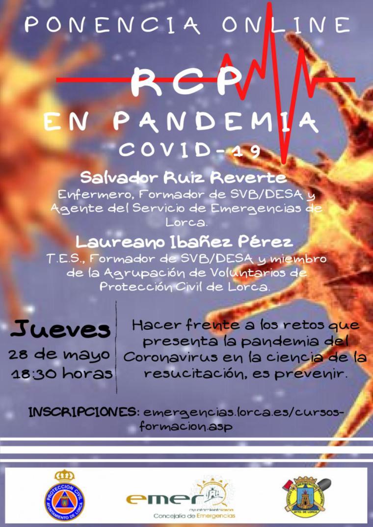 I Seminario en Lorca de formación online de Reanimación Cardiopulmonar para evitar el contagio por coronavirus