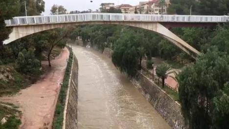 Las lluvias dejan más de 100 l/m2 en Elche