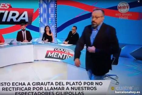 Risto Mejide expulsa del plató a Juan Carlos Girauta por llamar gilipollas a los espectadores