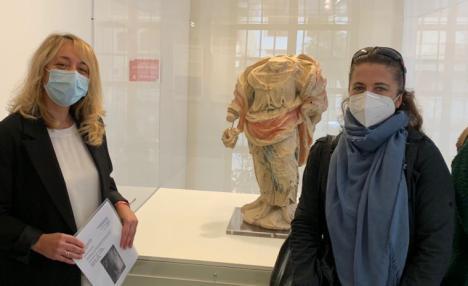 El Ayuntamiento de Lorca finaliza la restauración de la escultura de San Bartolomé hallada en la iglesia de San Patricio durante los trabajos de rehabilitación tras los terremotos