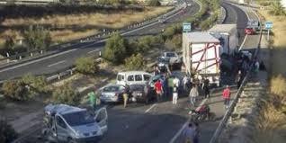 Cinco personas han fallecido en un accidente múltiple en Sangonera la Seca ( Murcia)