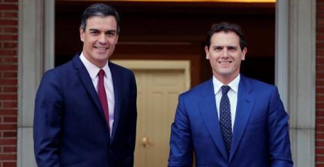 El único objetivo importante para Rivera es aplicar el 155 en Cataluña, así se lo ha reiterado al Presidente del Gobierno