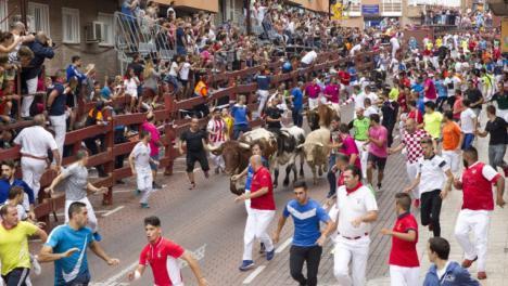 Dos heridos leves en el primer encierro de San Sebastián de los Reyes