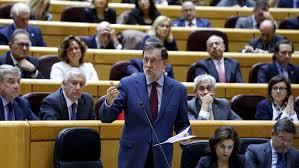 Rajoy acude al Senado, donde hoy se votara la aplicación del artículo 155
