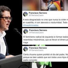 ' Hijos de puta sin padre conocido' el twiter del exjuez y diputado andaluz de VOX, Francisco Serrano