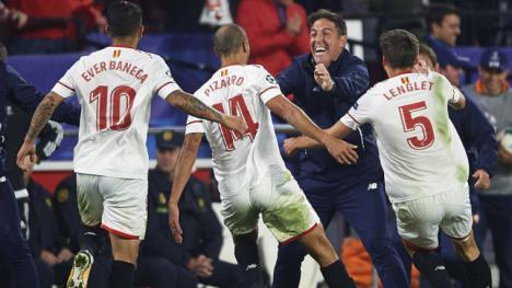 Noche épica en la Champios al igualar el Sevilla un 0-3 ante el Liverpool y contundente victoria del Madrid en Chipre por 0-6
