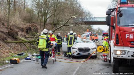Pánico por el temporal en Alemania y Países Bajos