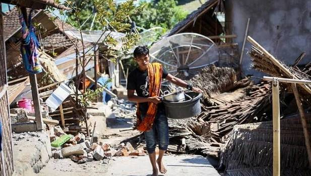Más de 90 muertos en un nuevo terrremoto en la isla indonesia de Lombok