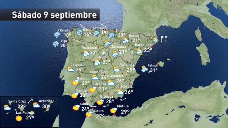 Llegan las lluvias y el frio a parte de España