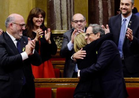 El sectario Quim Torra al servicio de Puigdemont, nuevo president gracias a la CUP