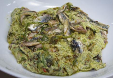 Tortilla de anchoas