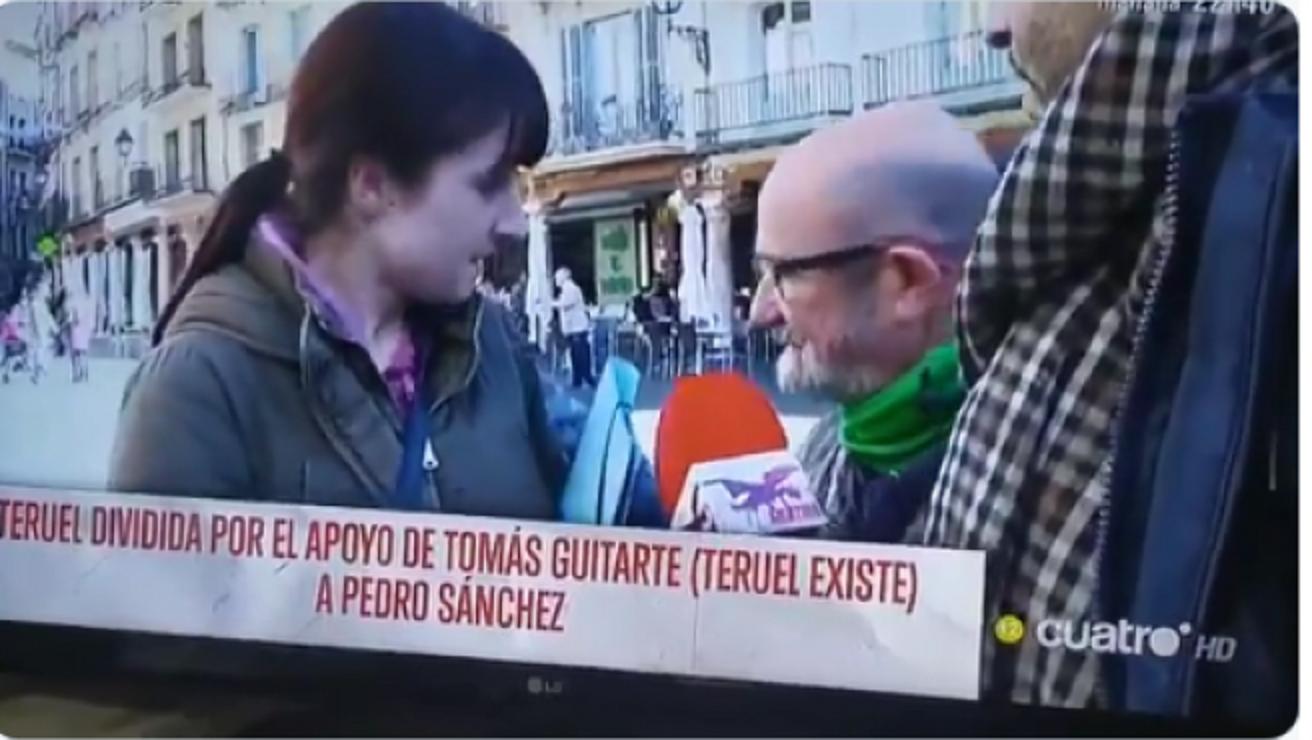 Así se las gasta el fascismo. Esto le ha dicho una miembro de 'Vox Teruel' a un miembro de 'Teruel Existe