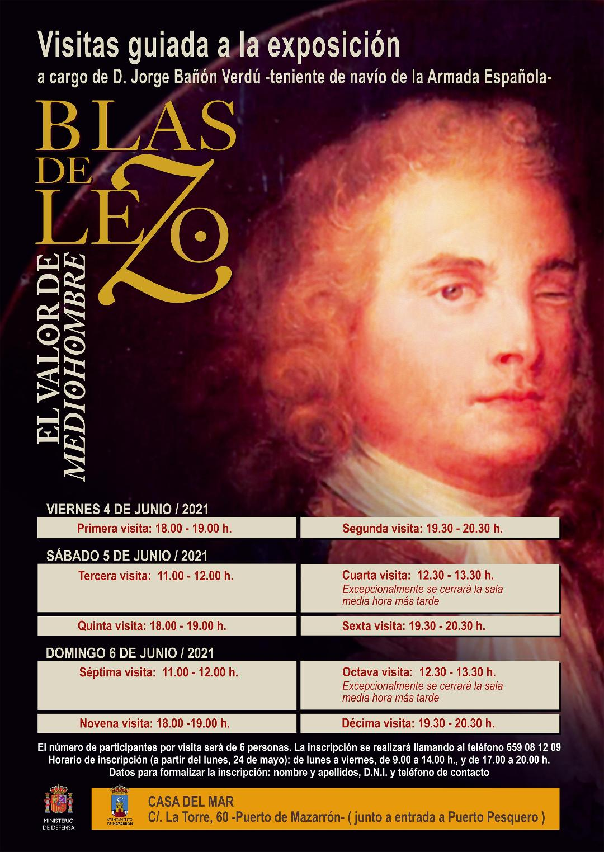 """Exposición de """"Blas de Lezo. El valor de mediohombre"""" en la Casa del Mar de Puerto de Mazarrón, del 4 al 27 de Junio"""