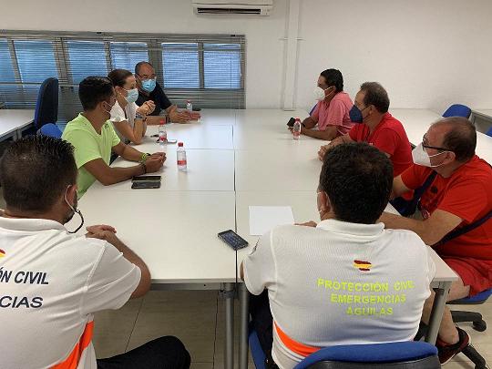 La Alcaldesa de Águilas preside la Mesa de Emergencias para organizar las labores de limpieza y restablecimiento de la normalidad tras las lluvias