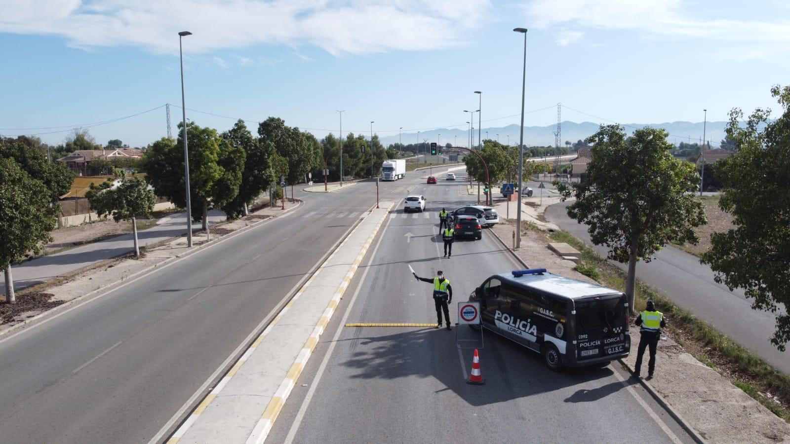 La Policía Local de Lorca recupera un vehículo de alta gama sustraído en Bélgica en un dispositivo de control de seguridad