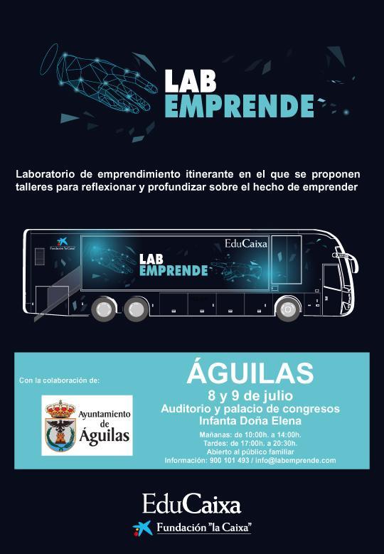 """Llegan a Águilas los talleres itinerantes """"LABEMPRENDE"""""""