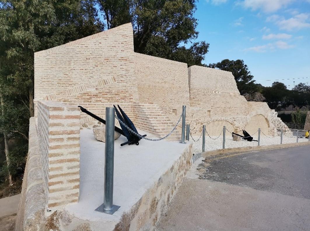 El Baluarte nº 9 de la Muralla de Carlos III, de Cartagena, recupera parte de su esplendor