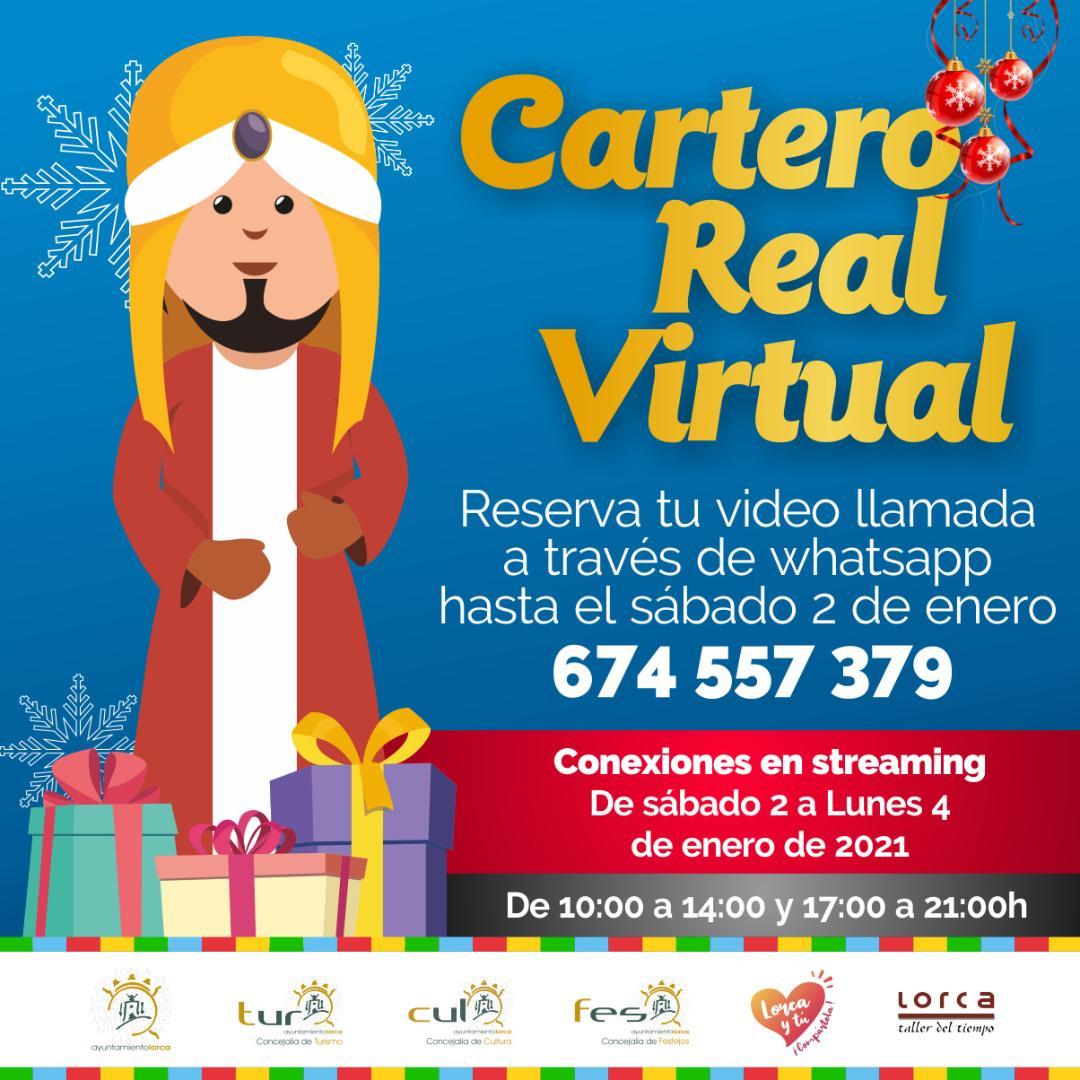 Los niños y niñas de Lorca podrán contactar por videollamada con el Cartero Real virtual del 2 al 4 de enero