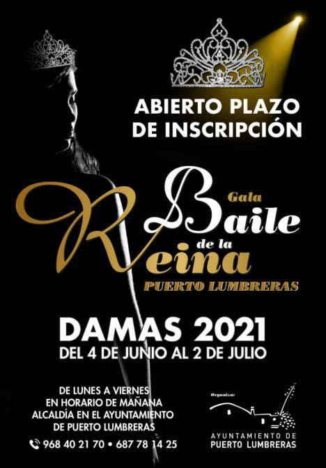 Puerto Lumbreras celebrará el Baile de la Reina 2021, y ya está abierto el plazo de inscripción para damas