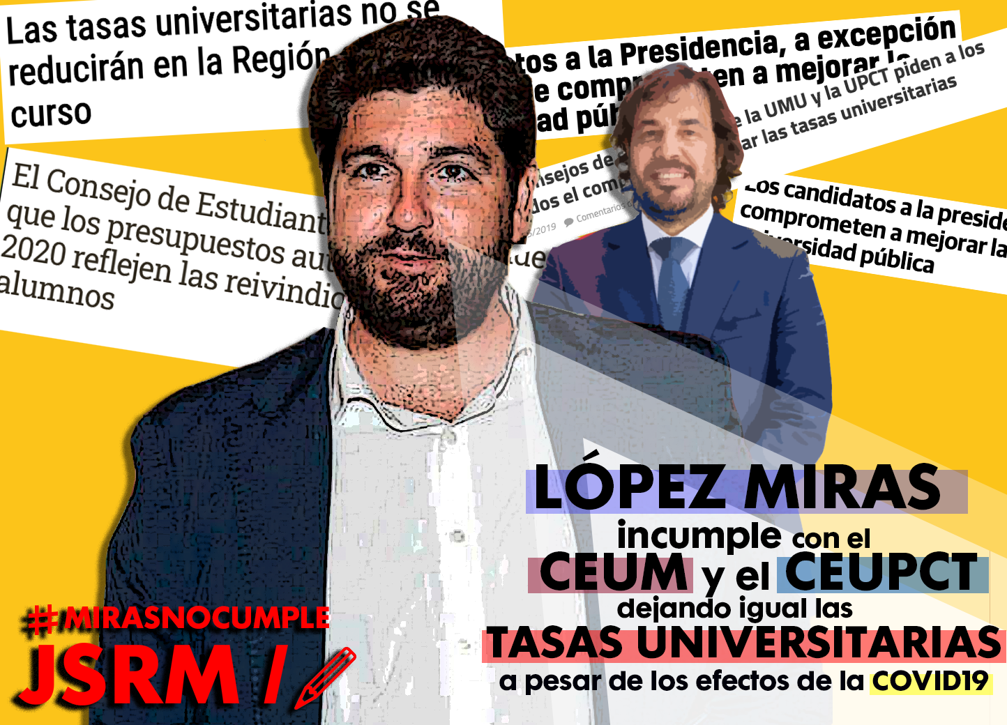 Juventudes Socialistas de Murcia reclaman que se cumplan las promesas electorales del Ejecutivo Regional en materia de universidades y aseguran que el presidente falta a su palabra
